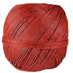 Decorative Hemp Twine - 1mm x 400 feet - Red