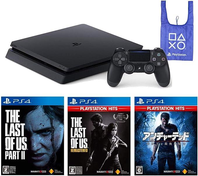 PlayStation 4 + The Last of Us Part I & II アンチャーテッド 海賊王と最後の秘宝 + オリジナルデザインエコバッグ セット (ジェット・ブラック) (CUH-2200AB01) 【CEROレーティング「Z」】