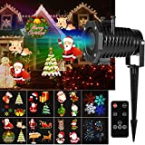 YUNLIGHTS Christmas Light Projector, 15 Pattern LED Projector Light Christmas Decorations with Wireless Remote, Timer, Holiday Projector for Outdoor, Indoor, Landscape and Garden Decoration