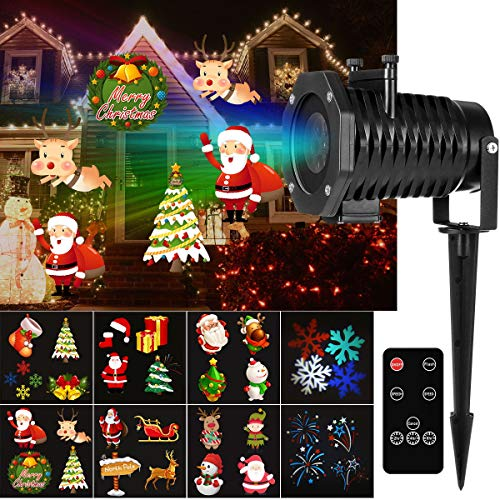 YUNLIGHTS Christmas Light Projector, 15 Pattern LED Projector Light Christmas Decorations with Wireless Remote, Timer, Holiday Projector for Outdoor, Indoor, Landscape and Garden Decoration ()