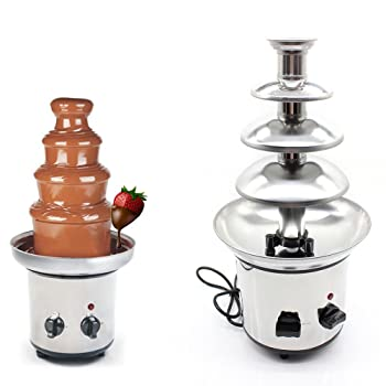 WUPYI 4-Tier Chocolate Fondue Fountain
