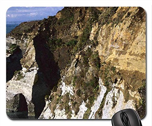 sculpted sandstone coast in new zealand Mouse Pad, Mousepad (Beaches Mouse Pad, 10.2 x 8.3 x 0.12 inches)