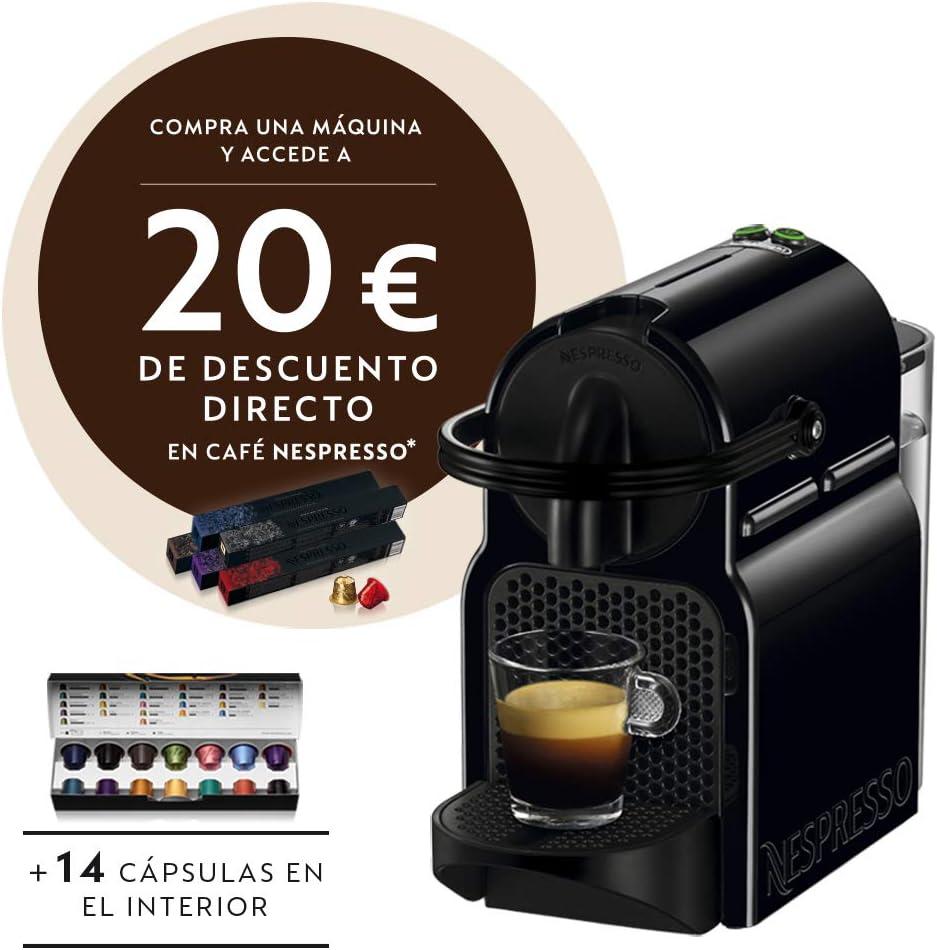 Nespresso De'Longhi Inissia EN80.B - Cafetera Express monodosis de cápsulas Nespresso