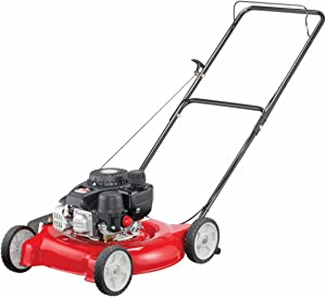 Yard Machines 132cc 20-Inch Push Gas Lawn Mower – Mower for Small to Medium-Sized Yards, Red