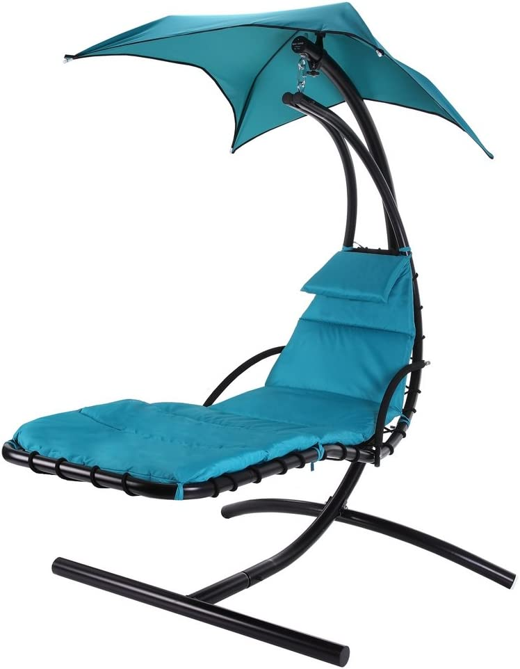Palm Springs Hanging Swing Helicopter Chair - Teal Blue
