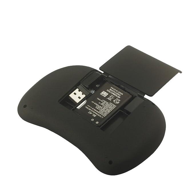 BlueBeach® 2.4GHz Inalámbrico Ratón Aéreo Teclado + TouchPad Mando Control Remoto Smart TV / Android TV Box / PC / HTPC / IPTV / Media Player / Xbox 360 ...