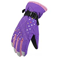 WATERFLY Winter Women Gloves Warm Water Resistant Snowmobile Snowboard Ski Athletic Gloves for Outdoor Cycling Biking