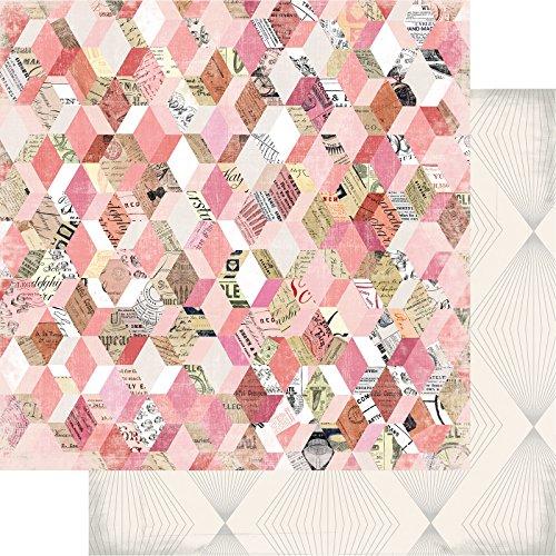 (American Crafts 313608 Heidi Swapp Magnolia Lane Paper 25 Pack 12 X 12 Paper Flea)