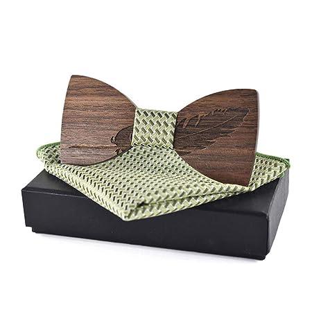 Corbatas de lazo para hombre Pajarita de madera Adulto A Pluma ...