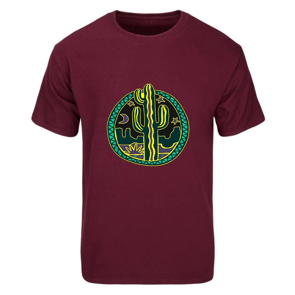 b23bc0e1f Amazon.com: GRADUATHE Men's Tee Western Cactus Graphic T-Shirt: Clothing
