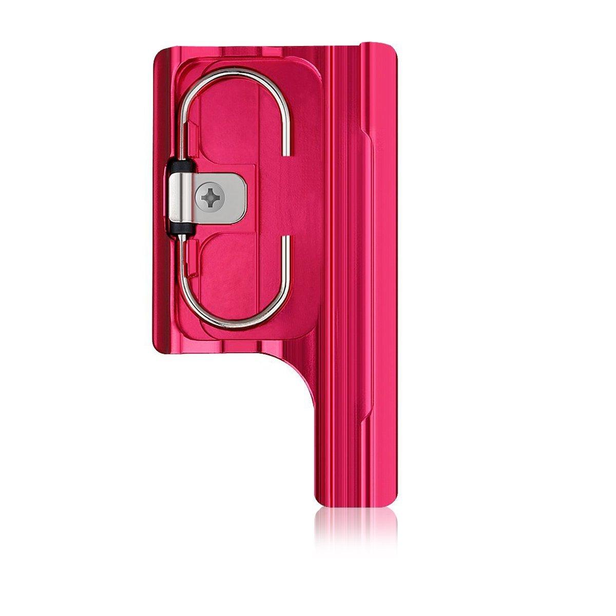 Konsait Aluminum Replacement Rear Snap Latch Standard Waterproof Housing Buckle Lock for GoPro Hero 3+, Hero 3 Plus, Hero 4/Session Camera(Red)