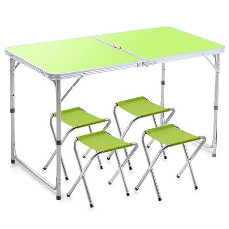 Cqq alfombra Mesa Plegable Mesa y sillas Plegables al Aire ...