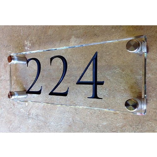 Custom engraved glass room plaque. These room signs are very ...