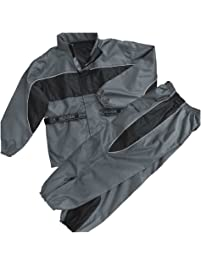 NexGen Men's Rain Suit (Black/Grey, X-Large)