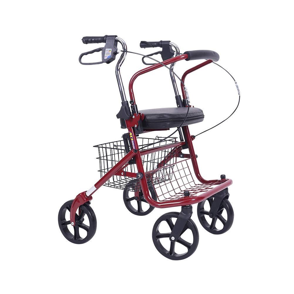 XJZHAN Andador De Andador De Aluminio Plegable Ligero con Asiento ...