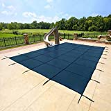 Yard Guard Deck Lock Rectangle Mesh 18'x36' Inground Swimming Pool Safety Cover (Blue)