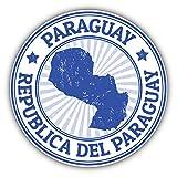 Paraguay Map Grunge Rubber Stamp Car Window Bumper Decal Vinyl Sticker 5'' X 5''