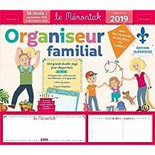ORGANISEUR FAMILIAL MEMONIAK 2018-2019 QUÉBEC