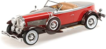 Duesenberg J Torpedo Convertible Coupe, red/silver, 1929, Model Car, Ready