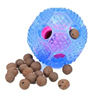 Rosmax Interactive Dog Toy - IQ Treat Ball Food Dispensing Toys for Small Medium Large Dogs Durable Chew Ball - Nontoxic Rubber and Bouncy Dog Ball - Cleans Teeth