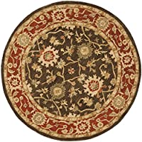 Safavieh Anatolia Collection AN554A Handmade Traditional Oriental Olive and Rust Wool Round Area Rug (4 Diameter)