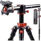 K&F Concept TM2515T1 Professional 67 inch Camera Tripod Horizontal Aluminium Tripods Portable Monopod with 360 Degree Ball He