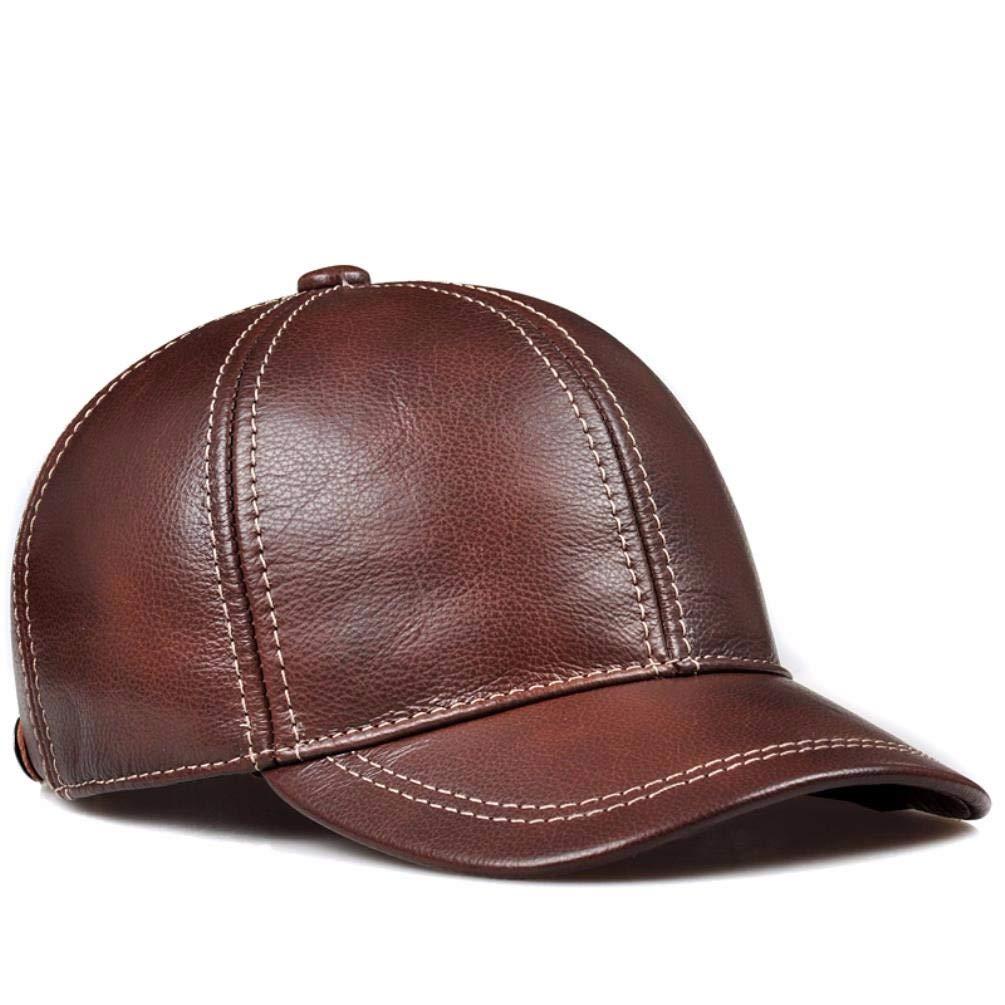 YISANLING-PM Herren-Baseballmütze aus Leder für den Herbst Herbst Herbst und Winter im mittleren Alter B07M8N6P77 Cricket Guter Markt 41eb80