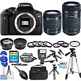 Canon EOS Rebel T6i DSLR Camera with EF-S 18-55mm f/3.5-5.6 IS STM Lens [International Version] (Mega Bundle, 18-55mm & 55-250mm Lenses)