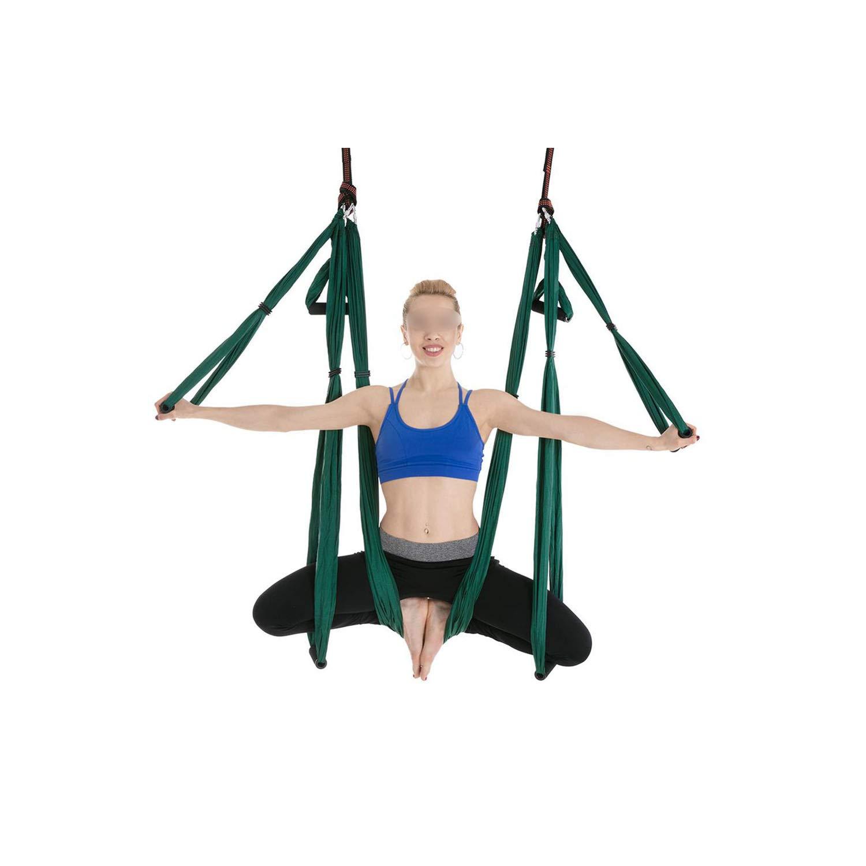Amazon.com : 2.51.5M Aerial Yoga Hammock 6 Handles Strap ...