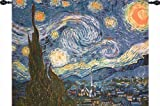 Manual The Starry Night Grande Tapestry Wall Hanging, 51 X 40-Inch