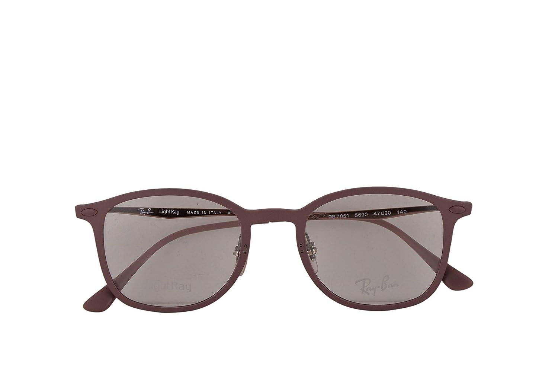 8f1e64588fa Amazon.com  Ray Ban RX7051 Eyeglasses 47-20-140 Purple w Demo Clear Lens  5690 RX 7051 RB 7051 RB7051  Clothing