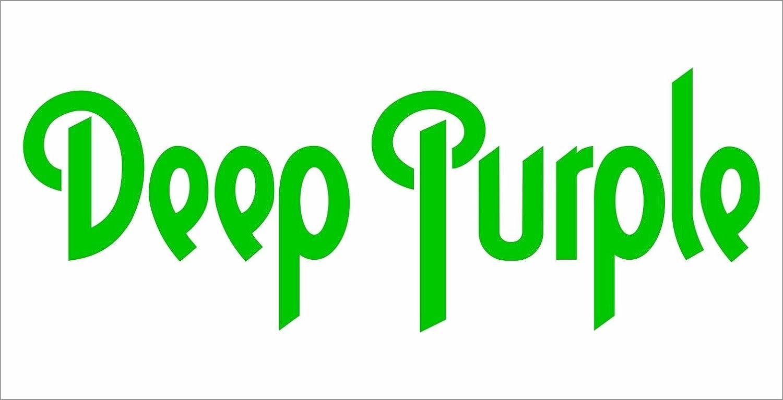 Decal Deep Purple hip hop rap jazz hard rock metal pop adhesivo Pegatinas con texto Freiform