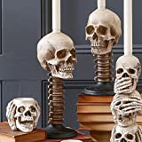 SKULL AND SPINE CANDLEHOLDER, 1 COUNT (12 inches)