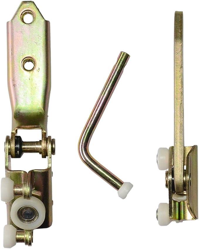 AKWH -Parte inferior corredera para puerta lateral, rodillo superior y medio: Amazon.es: Coche y moto