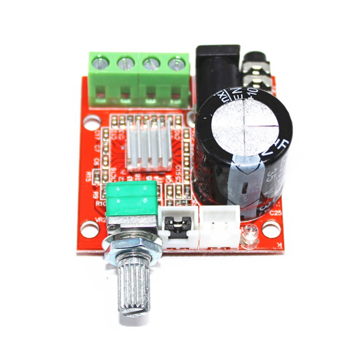 Megmoki Pam8610 10w Amplifier Mini Stereo Amp Audio Chargecompensatedsampleandhold Amplifiercircuit Circuit Amplify Board 210w Dual Channel Class D Dc8v 12v Electronics