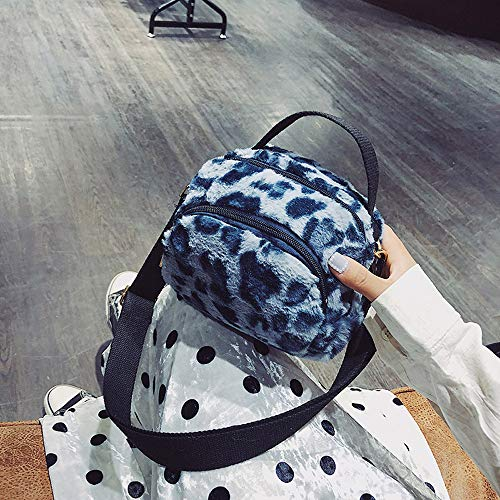 peluche donna Messenger Print Fashion Leopard Casual zaino bag Blue borsa Ansonesna Bag Messenger impermeabile gzH5x0