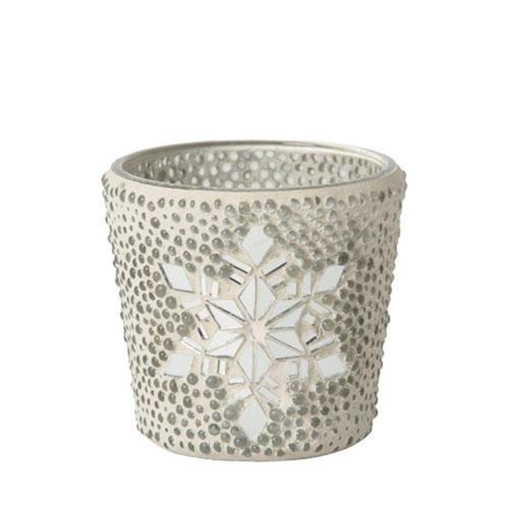 Metall Silber Yankee Candle Twinkling Snowlake Wachsw/ärmer 15,6cm