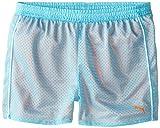 PUMA Big Girls' Active Double Mesh Short, Faster Blue, 12-14 (Large)