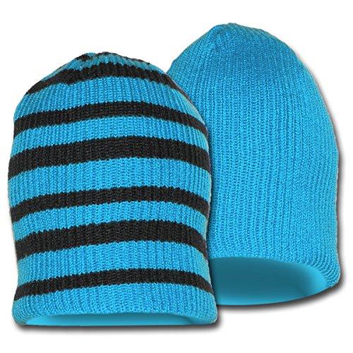 Green SB Stripes Blue Black Minus33 Black Reversible Merino Beanie nbsp;Lana Zephyr Stripes with Hombre Azure with vqqEgz