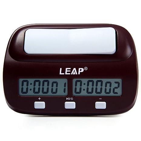 Ajedrez Reloj Cronómetro, Digital Profesional De Ajedrez Juego De Reloj Y Temporizador con Alarma,