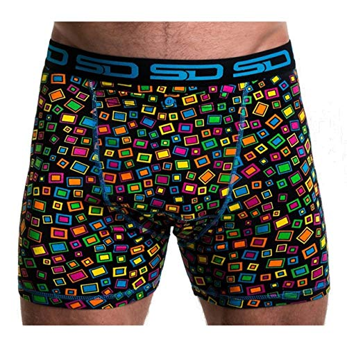 Smuggling Duds White-Blue Abstract Boxer Shorts