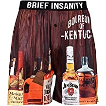 Brief Insanity Men's Boxer Shorts Underwear Bourbons Beers Moonshines & Cocktails