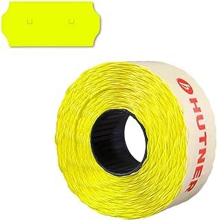 45.000 Preisauszeichner Etiketten 26x12, leucht-gelb, permanent, 30 Rollen a 1.500 Stück, Preisetiketten 26x12 Sato/Samark-UU Stanzung | HUTNER