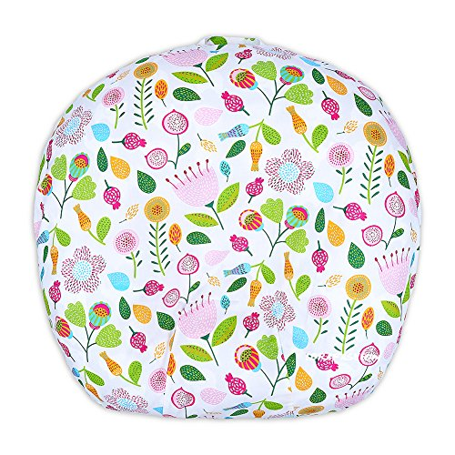 Newborn Lounger Cover Removable Cover 100% Soft Cotton Cute Flower by IBraFashion