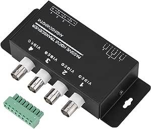 Sanpyl Passive HD Video UTP Transceiver, 4-CH / 8-CH BNC to RJ45 CAT5/6 UTP Cable Video Transmission for 720P/1080P AHD/HDCVI/HDTVI CCTV Camera(4-CH)