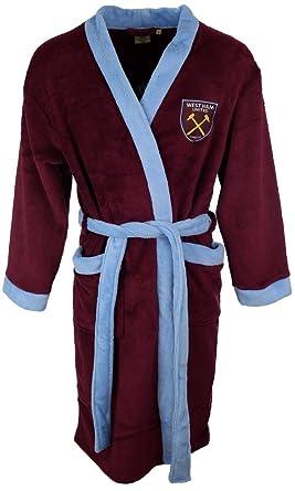 Mens Official West Ham Fleece Football Dressing Gown Bathrobe Sizes