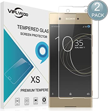 VIFLYKOO Sony Xperia XA1 Protector de Pantalla, [2-Pack] Sony Xperia XA1 Cristal Templado 9H Dureza Sony Xperia XA1 Vidrio Templado Flim Protection para Sony Xperia XA1 Smartphone Tempered Glass Screen Protector: Amazon.es: