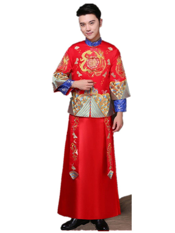 Brideroom Wedding Dress Mandarin Jacket Tang Suits Show Wo Dress
