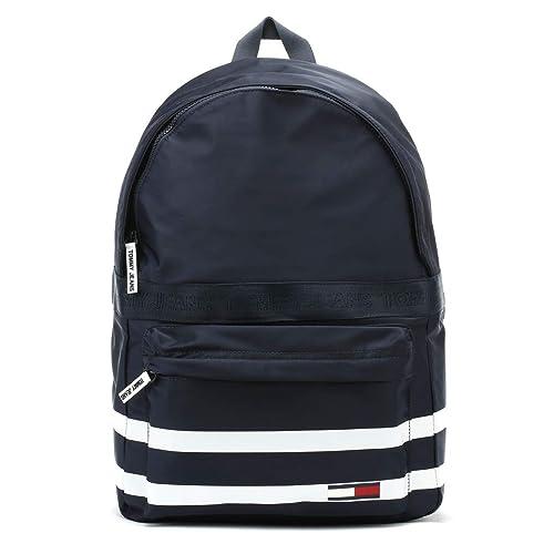 Tommy Hilfiger Jeans Varsity Stripe Negro Iris mochila: Amazon.es: Zapatos y complementos