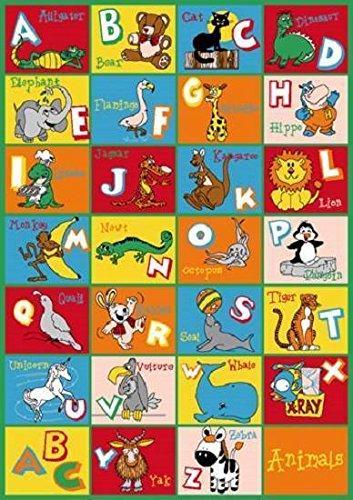 Kids Children School Classroom Alphabet Animal 8' X 11' Large Educational Rug